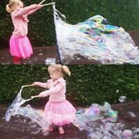 Giant Bubble Wand Garden Toy Outdoor Big Huge Fun Set Kit Foam Blizzard Activity