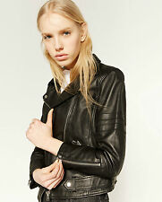 Zara Zip Leather Outdoor Coats & Jackets for Women