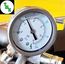 "Pressure Gauge for oil fuel air 15 psi 100 kpa 1/8 npt thread 50mm (2"") Dia face"