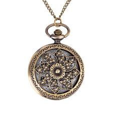Vintage Steampunk Retro Bronze Pocket Watch Quartz Pendant Necklace Chain Gifts #1