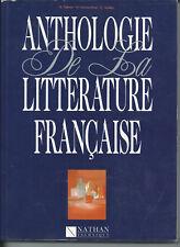 ANTHOLOGIE DE LA LITTERATURE FRANCAISE B. VALETTE D. GIOVACCHINI C AUDIER