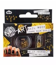 NEW Skulls & Studs Do It Yourself Nail Art Kit Nail Rock Glamorous Gold NIB
