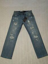 EARL ― Mens 30 x 30 ― STRAIGHT Distressed Denim Jeans NWT ― #Z910  *NEW*