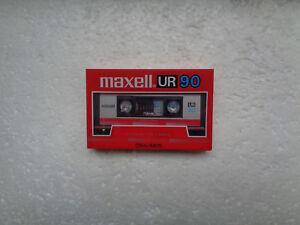 Vintage Audio Cassette MAXELL UR 90 * Rare From Korea 1986 *
