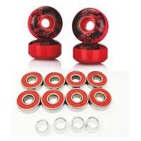 52mm SHR-100A Hardness 75% Skateboard Longboard PU Wheels & ABEC-9 Bearings Set