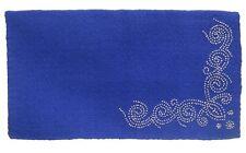 """Western Saddle Blanket - Royal Blue Wool - Designer Silver Dots - Size 34""""x38"""""""