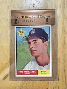 1961 Topps Carl Yastrzemski Raw Card Review BVG 8