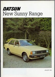 Datsun Nissan Sunny 1981-82 UK Market Sales Brochure 1.2 1.5 Saloon Coupe Estate