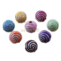 200 PCS colorful Artful Spiral effect Acrylic Spacer Loose Beads charms 8mm