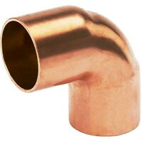 """Bag of 25pc. 1/2"""" (OD. 5/8"""") Copper Fitting 90 Degree Sweat Elbow CxC"""