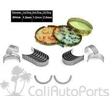 FITS: 02-06 ALTIMA SENTRA 2.5L DOHC QR25DE RINGS + MAIN ROD ENGINE BEARINGS SET