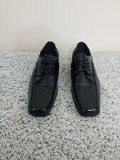 Salvanni Men's Black Man made Material Lace up Square Toe Dress Shoes Size 12