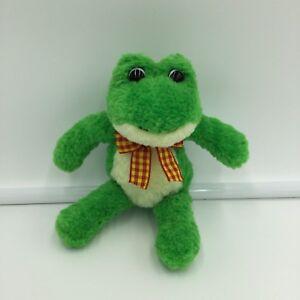 "Gund Iggy Green Yellow Frog Plush Soft Toy Stuffed 7"" 6113"