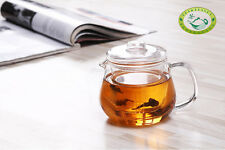 Clear Glass Mug With Lid & Infuser Flower Teapot 500ml/17.5oz H05