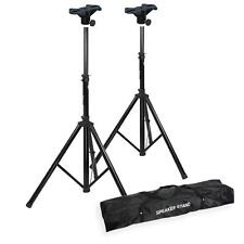 Speaker Stands (Black) + Top Brackets and Carry Bag to suit Yamaha Stagepas 300