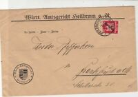 Germany 1925 Coat of Arms Heilbronn Slogan Cancel Official Stamps Cover ref22931