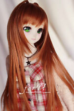 1/6 6-7 Inches BJD Doll Medium Long Silver Gray Straight Style Hair Wig Hla5