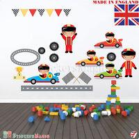 Racing Cars Wall Stickers Kids Boys Childrens Bedroom Nursery Sports Art Decal