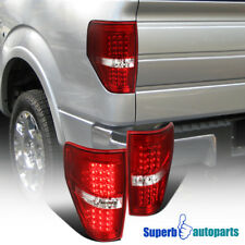 09-14 Ford F150 F-150 Pickup LED Red/Clear Rear Brake Lamp Tail Light Left+Right