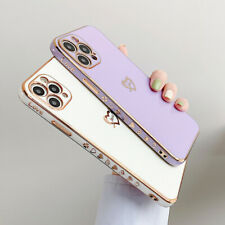 Shockproof Plating Heart Silicone Case For iPhone 12 11 Pro Max 7 8 XS XR Cover