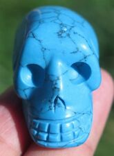 35mm 0.7OZ Blue TURQUOISE Jasper Skeleton, Crystal Healing SKULL