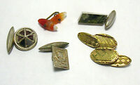 CUFFLINK SINGLE LOT GOLD FILLED STERLING SILVER 16.7 GRAMS antique vintage