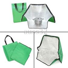 Green Portable Solar Oven Bag Cooker Sun Cooking for Outdoor Camping Travel