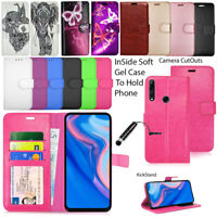 For Huawei P Smart Z STK-LX1 Phone Case Wallet Leather Cover Flip Book + Stylus