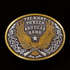 "Right To Keep and Bear Arms"" 37117 Nocona Western Mens Belt Buckle Eagle ""The"