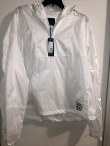 Authentic NWT Versace White Men's Outdoor Jacket Hoodie Retails $1695 Size 56