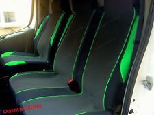 Renault Trafic (01-14) GREEN MotorSport VAN Seat COVERS - Single + Double