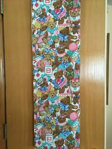 vtg cotton fabric. Teddy Bears 44 x 36 Cranston Print Works