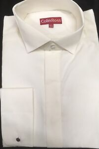 MENS NEW IVORY VICTORIAN HIGH WING COLLAR SHIRT FOR WEDDING THEATRE ETC