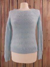 Ann Taylor Loft Sweater Pullover Crew Neck Mohair Blue Women's XS