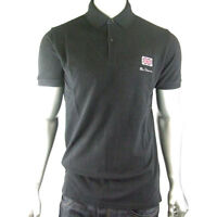 Mens Ben Sherman Mod Union Jack Pique Polo Shirt Top Skin Mod Retro Style Cotton