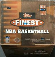 1997-98 Topps Finest Basketball Series Two Sealed Hobby Box Michael Jordan psa