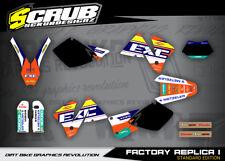 KTM dekor grafik EXC 125 200 250 300 400 520 1998 2002 Enduro '98 '02 SCRUB