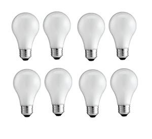 [8-PACK] GE 60 Watt Incandescent Light Bulb A19 Soft Warm White 2800K Dimmable