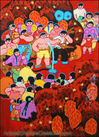Chinese Folk Art Painting - Chinese Peasant Painting - Performers