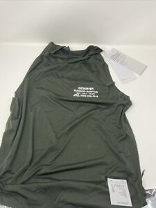 Satisfy Running Deserter Men's Sleeveless Top Army Green Size 1 (Small)