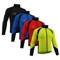 Cycling Jacket Windstopper Winter Thermal Fleece Windproof Long Sleeve Coat