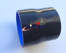 """BLACK Silicone Reducer Straight Coupler Hose 2.75""""(70mm) to 2.5"""" (64mm)"""