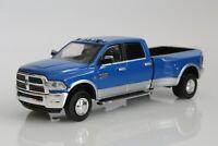 2018 Dodge Ram 3500 Dually Pickup Truck w/ Hitch 1:64 Scale Diecast Model Blue