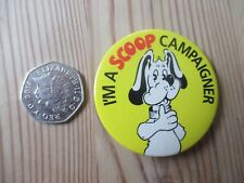Vintage Metal Badge/Button - Dog Poop Scoop