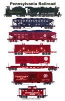 "Pennsylvania Railroad Steam-era Train 11""x17"" Poster by Andy Fletcher signed"
