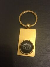 JACK DANIELS Old Time Old No.7 Logo Ingot KEYRING Key Ring Gold Plated Metal