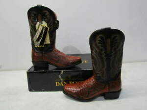 Dan Post Men's US 8.5D Cognac Back Cut Python Cowboy Boots Cognac DPS297