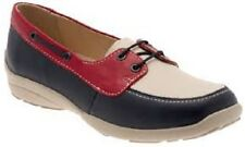 Ladies Easy B Navy/Red/Beige Lace Up Leather Shoes Avalon Size 8 RRP £79