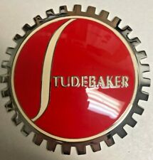 New Vintage Studebaker Grill Grille Badge- Chromed Brass- Great Gift Item!