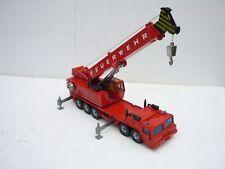 SIKU Autokran Kran Feuerwehrkran Kranwagen 4010 LKW Baumaschine Feuerwehr 1:55